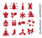 set of icon of new year... | Shutterstock .eps vector #661044037