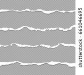 ripped paper  torn paper sheet... | Shutterstock . vector #661046695