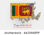 vector flag measurements with... | Shutterstock .eps vector #661046899