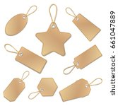 blank vintage brown paper price ... | Shutterstock . vector #661047889