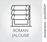 logo of roman jalousie. label... | Shutterstock .eps vector #661053529