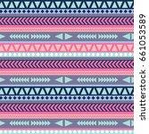 navajo abstract seamless pattern | Shutterstock .eps vector #661053589