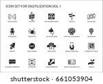 digitilization vector icons for ... | Shutterstock .eps vector #661053904