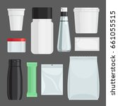 cosmetics containers set.... | Shutterstock . vector #661055515