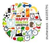 healthy lifestyle emblem.