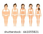 cartoon woman before and after... | Shutterstock . vector #661055821