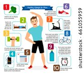 healthy lifestyle for man... | Shutterstock . vector #661055959