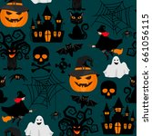 halloween crafts wrapping... | Shutterstock . vector #661056115