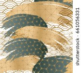 japanese pattern background.... | Shutterstock .eps vector #661056331