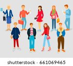 set of style young people | Shutterstock .eps vector #661069465