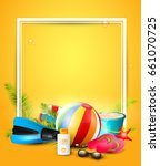 summer time background with... | Shutterstock .eps vector #661070725