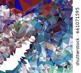 abstract multicolor mosaic... | Shutterstock .eps vector #661071595