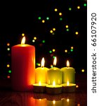 christmas candles | Shutterstock . vector #66107920