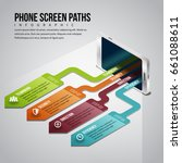 vector illustration of phone... | Shutterstock .eps vector #661088611