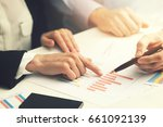 business people working with... | Shutterstock . vector #661092139