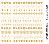 star borders. golden vector...   Shutterstock .eps vector #661104235