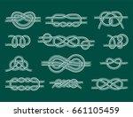 sea boat rope knots vector... | Shutterstock .eps vector #661105459