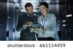 male and female it engineers in ...   Shutterstock . vector #661114459