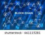 blockchain network concept  ... | Shutterstock .eps vector #661115281