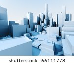 3d image of city landscape with ... | Shutterstock . vector #66111778
