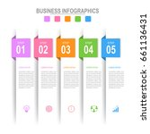 infographic template of five... | Shutterstock .eps vector #661136431