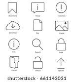 basic icons set in flat style