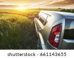 car travelling. vehicle on a... | Shutterstock . vector #661143655