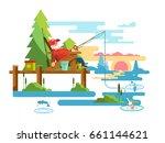 rest fishing design | Shutterstock .eps vector #661144621