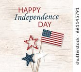 happy independence day 4th july.... | Shutterstock .eps vector #661145791