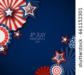 4th of july  usa independence... | Shutterstock .eps vector #661152301