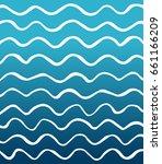 blue ocean waves background... | Shutterstock .eps vector #661166209