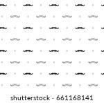 seamless mustache hipster... | Shutterstock .eps vector #661168141