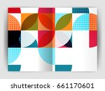 abstract circle design business ... | Shutterstock . vector #661170601