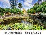 General View In Khmer Pagoda A...