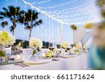 dinner set up | Shutterstock . vector #661171624
