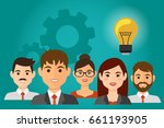 business people avatars have an ... | Shutterstock .eps vector #661193905