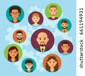 cloud business people avatars... | Shutterstock .eps vector #661194931