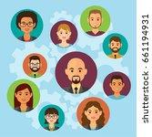 cloud business people avatars...   Shutterstock .eps vector #661194931