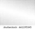 abstract halftone dotted... | Shutterstock .eps vector #661195345