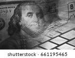 benjamin franklin on a new one... | Shutterstock . vector #661195465