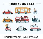vector cartoon funny set of... | Shutterstock .eps vector #661196965