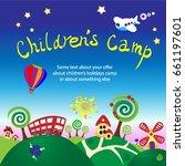 positive pictures for children. ... | Shutterstock .eps vector #661197601