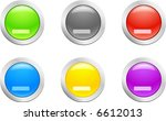 6 high detailed buttons. cut... | Shutterstock .eps vector #6612013