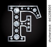 vector letter f in diamond... | Shutterstock .eps vector #661208305