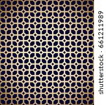 geometric pattern. golden lines ... | Shutterstock .eps vector #661211989