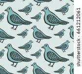 birds seamless pattern | Shutterstock .eps vector #661212061