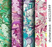 set of tracery colorful... | Shutterstock .eps vector #661213549