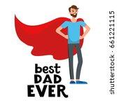 cartoon character dad... | Shutterstock .eps vector #661221115