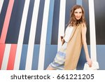 outdoors fashion portrait of... | Shutterstock . vector #661221205