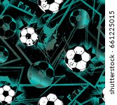 abstract seamless football... | Shutterstock .eps vector #661225015